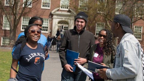 Visitors during Admitted Students Open House