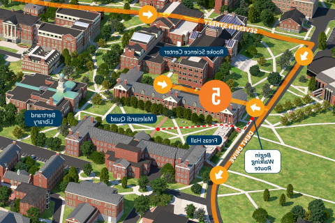 Campus Driving Tour Map - Stop 5 Detail